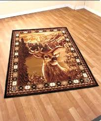 deer area rugs wolf or buck rug x rustic cabin lodge wildlife red ab runners rustic cabin rugs