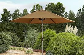 garden oasis umbrella. Contemporary Umbrella Garden Oasis Emery 9 Ft Patio Umbrella Golden Brown U2014 The Outdoor  Store Inside 1
