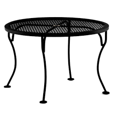 pet amazing ow lee micro mesh 36 inch round side table with umbrella hole pertaining to iron patio table with umbrella hole popular