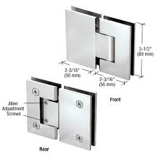 crl geneva 380 series adjule 180 degree glass to glass shower door hinge