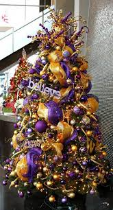 gold and purple christmas tree decorations