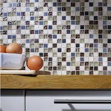 athens beige glass metal stone mix mosaic 15x15mm
