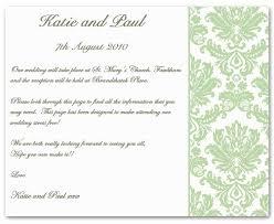 Wedding Insert Templates Wedding Invitation Insert Templates Fancy Wedding Insert