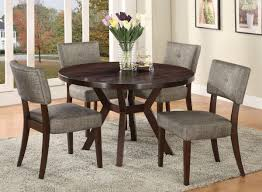 wood small round dining table