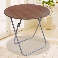 double arrow minodi round folding dining table study desk desk computer table wood grain color sj 2205