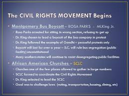 the civil rights movement ppt video online  the civil rights movement begins