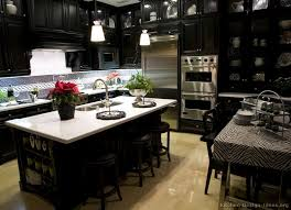 traditional black kitchen