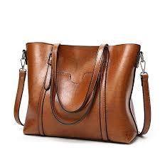 elegant women s tote sling bag oily soft leather shoulder