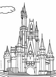 Disney is not just for the kids. Printable Castle Coloring Pages For Kids
