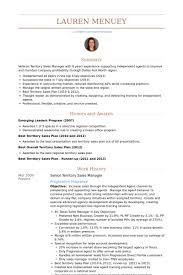 Senior Territory Sales Manager Resume samples