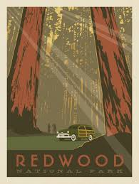 National Parks Posters Anderson Design Group Redwood National Park Anderson Design Group