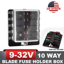 caravan fuse box car & truck parts ebay caravan fuse box remove 10 way blade fuse block holder box led light circuit caravan truck suv 12v 24v