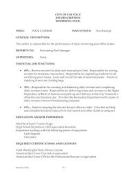Crew Member Job Description Resume Resume Template