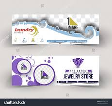 laundry jewelry store business ad web stock vector  laundry jewelry store business ad web banner header layout template