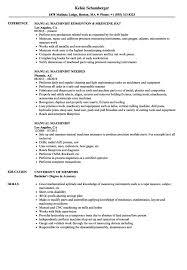 Resume Printing Machine Operator Sample Manufacturing Samples
