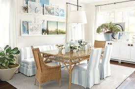 indoor wicker furniture in dining room designed by suzanne kasler for ballard designs