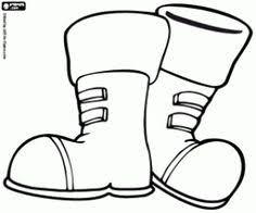 Small Picture Winter Boot Santa Coloring Page Winter Coloring Page Pinterest