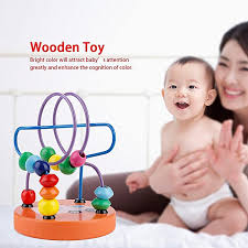 colorful wooden puzzle toy mini colorful beads baby kids early learning educational toys gift car