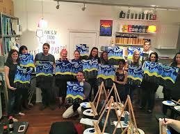 byob painting nyc fun spring activties nyc paint sip studio ny image