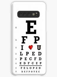 Snellen Eye Chart For Phone Eye Chart Optometry Optometrist Love Snellen Vision Case Skin For Samsung Galaxy By Mantisarts