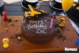 Birthday cake for 1st year boy ~ Birthday cake for 1st year boy ~ Construction st birthday cake huggies birthday cake gallery