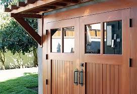 dynamic garage doorsReal Wood Carriage Garage Door Ideas With Matching Overhead