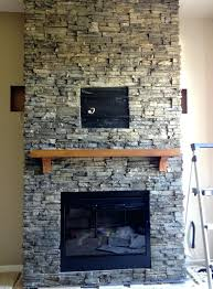 ... Stacked Stone Tile Fireplace Surround Outdoor Cost Dry Stack Ideas ...