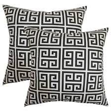 black and white accent pillows. Interesting Accent Set Of 2 Paros Greek Key Throw Pillows In Black White In And Accent