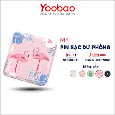 Pin sạc dự phòng Yoobao M4 mini 10000mAh Pin Li-Polymer 2 đầu vào 2 đầu ra  cho điện thoại máy tính bảng.... - Chính Hãng giảm tiếp 383,900đ