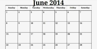 June 2014 Calendar Template June 2014 Calendar Free