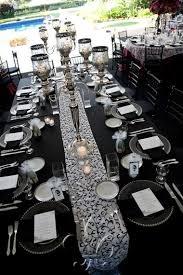 Black White Table Decor Tented Soirees Lauren David