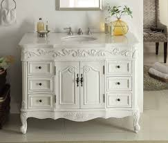 Traditional White Bathrooms Adelina 42 Inch Traditional Style Antique White White Bathroom Vanity