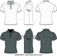 shirt design templates clipart of mens polo shirt and t shirt design templates k22264233
