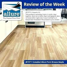 flooring reviews allure vinyl plank tile trafficmaster home depot allur