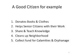 civic sense be antisocial 14 15 a good citizen