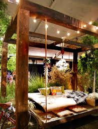 outdoor hanging furniture. Hanging Bed Outdoor Stripped Camping Cotton Canvas Furniture