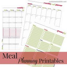 Monthly Meal Planner Printable Free Printable Family Meal Planner Our Homemade Life