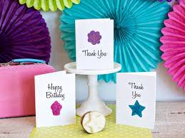 Birthday cards for girls diy ~ Birthday cards for girls diy ~ How to use a potato to make greeting cards how tos diy