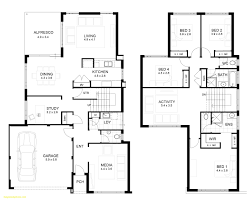 two y house floor plan with perspective