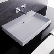 bathroom countertop basins wholesale: ws bath collections urban  white wall mount or countertop bathroom sink without faucet hole wall mount mounting brackets and countertops