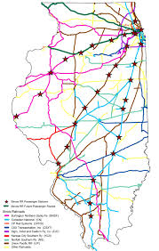 rail Northern Train Line Map illinois is at the center of the nation's rail network it has a comprehensive rail network consisting of approximately 9,982 miles of railroad tracks, northern train line map