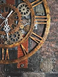 handcrafted steampunk wall clock