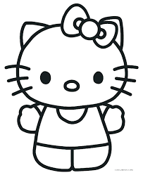 Kitty Coloring Pages Hello Kiy Coloring Pages Printable Color To
