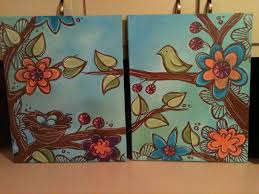 ideas about easy acrylic paintings on painting for awesome creative canvas