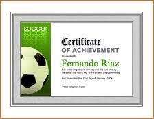 Sample Sports Award Certificate Example Sports Awards