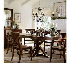 black dining room table pottery barn. country style pottery barn kitchen table wax pine finish bold black dining room o
