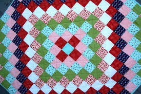 Trip Around The World Quilt Pattern Cool Trip Around The World Quilt Tutorial Brights On White