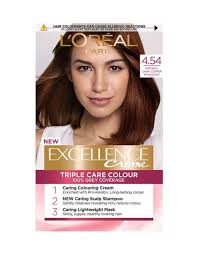 L Oreal Excellence Age Perfect Hair Color Chart Dark Copper Hair Dye 4 54 Natural Dark Copper Mahogany