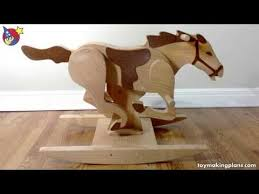 wood toy plans mustang rocking horse