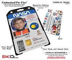 - Themed Epic Nasa Badge Access Astronaut Id Ids Cosplay